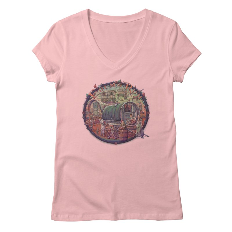 Edema Ruh Women's V-Neck by Taylor Rose Makes Art