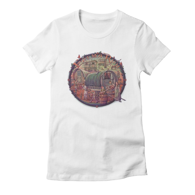 Edema Ruh Women's Fitted T-Shirt by Taylor Rose Makes Art