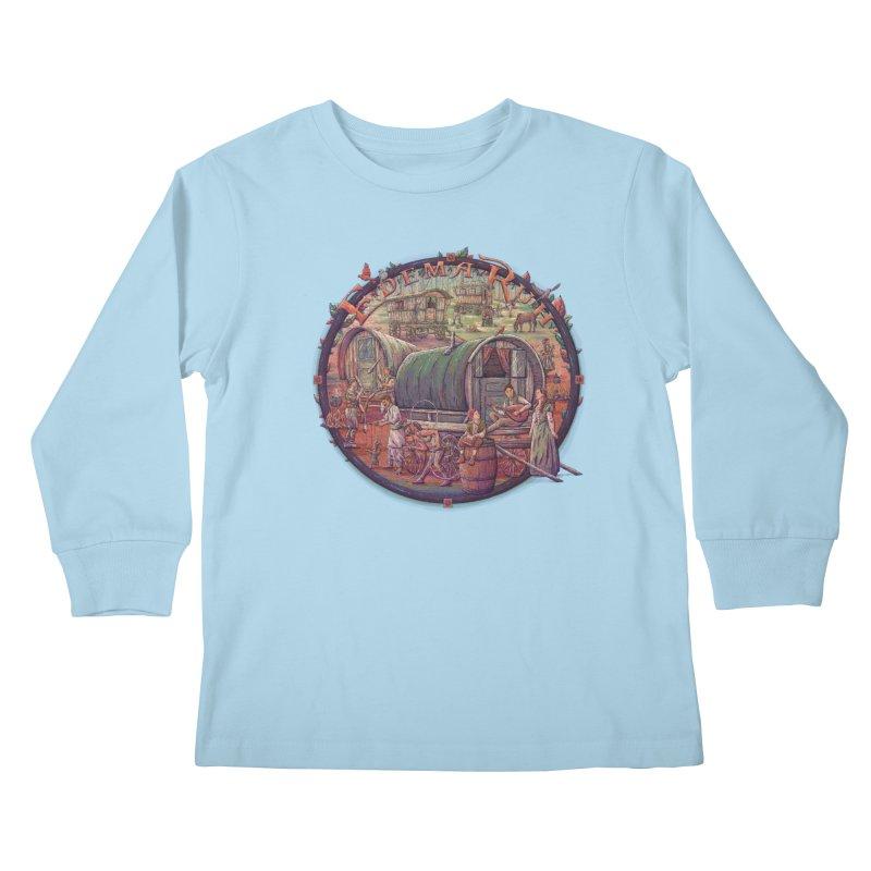 Edema Ruh Kids Longsleeve T-Shirt by Taylor Rose Makes Art