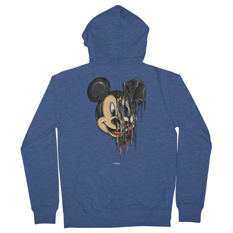 MELTY MOUSE Men's French Terry Zip-Up Hoody by TBH805