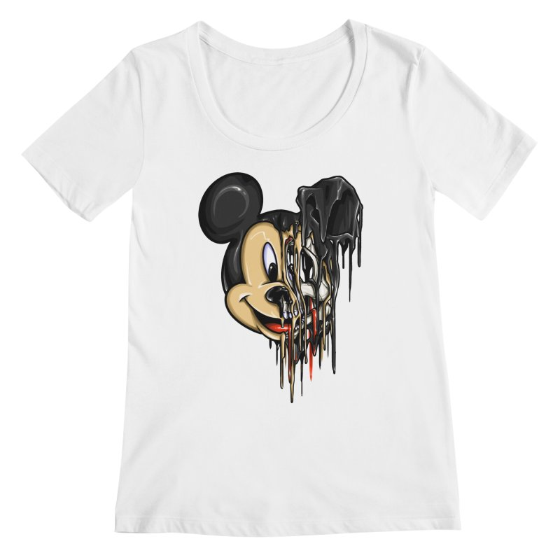 MELTY MOUSE Women's Scoopneck by TBH805