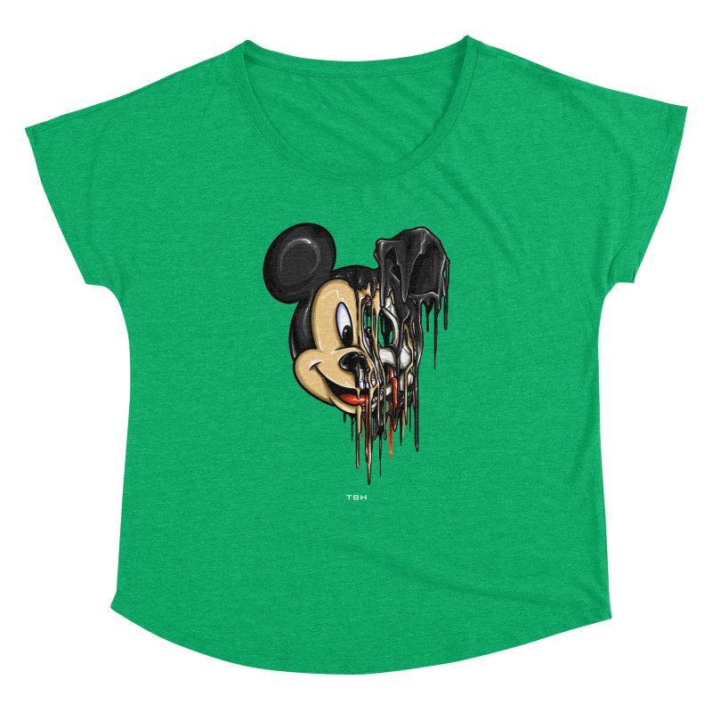 MELTY MOUSE Women's Dolman Scoop Neck by TBH805