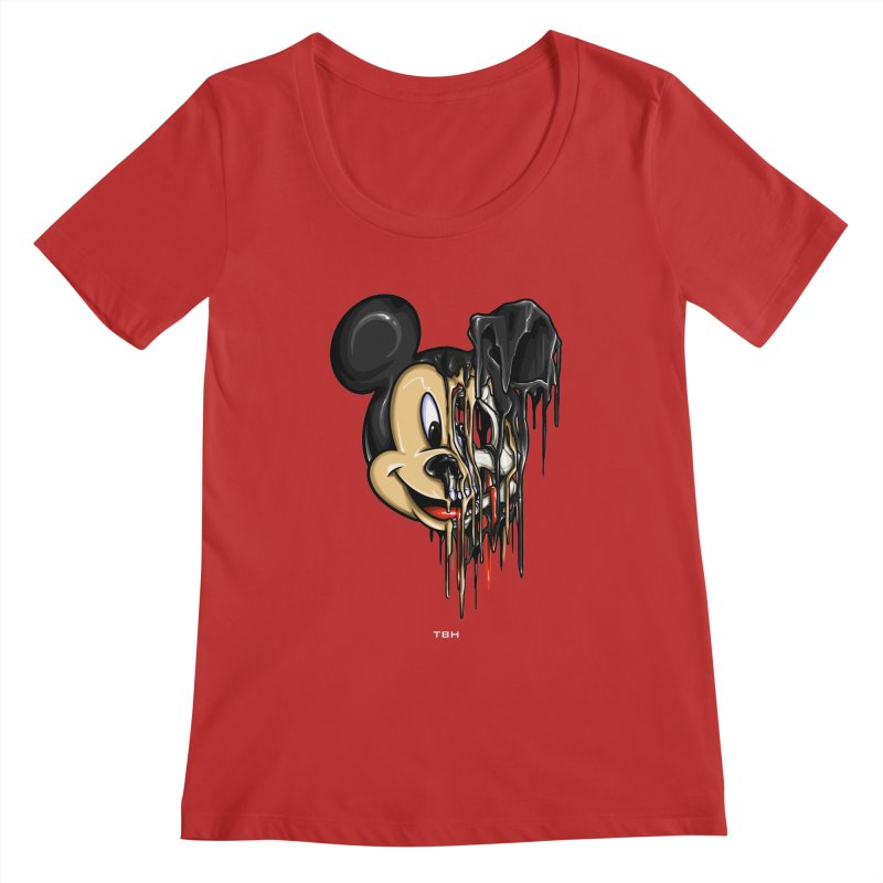 MELTY MOUSE Women's Regular Scoop Neck by TBH805