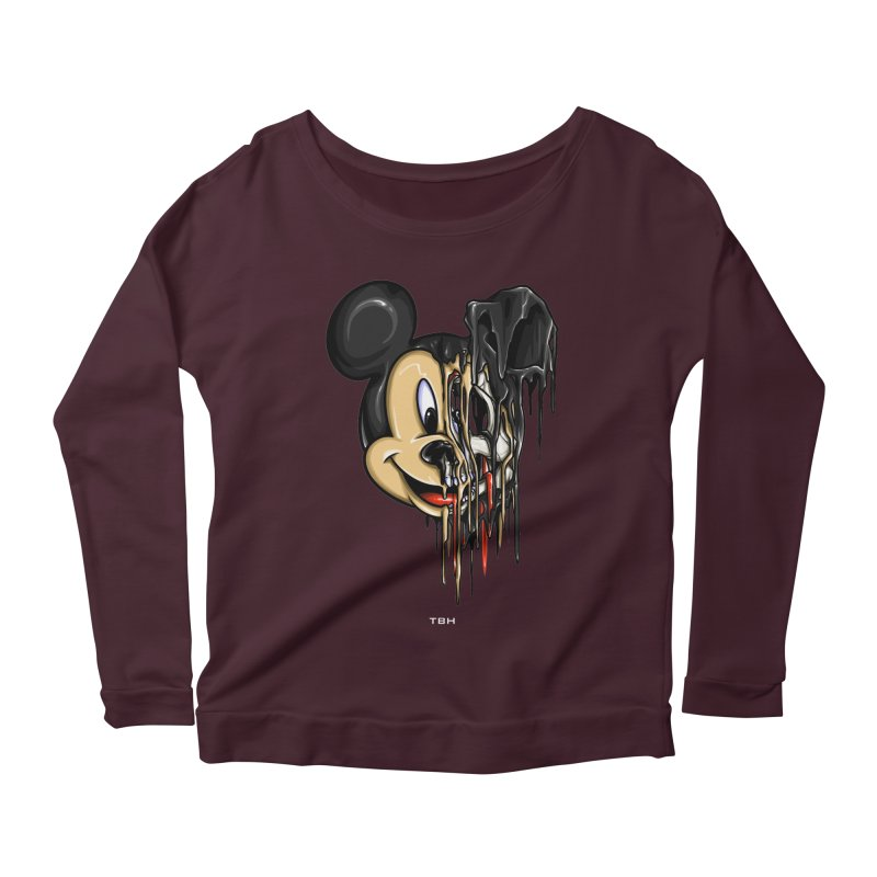 MELTY MOUSE Women's Scoop Neck Longsleeve T-Shirt by TBH805