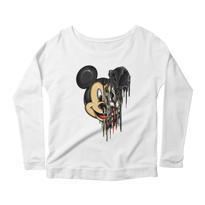 MELTY MOUSE Women's Longsleeve Scoopneck  by TBH805
