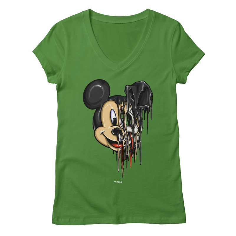 MELTY MOUSE Women's V-Neck by TBH805