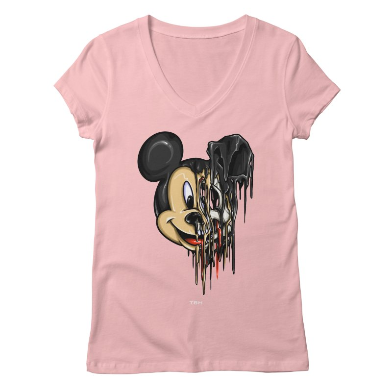 MELTY MOUSE Women's Regular V-Neck by TBH805