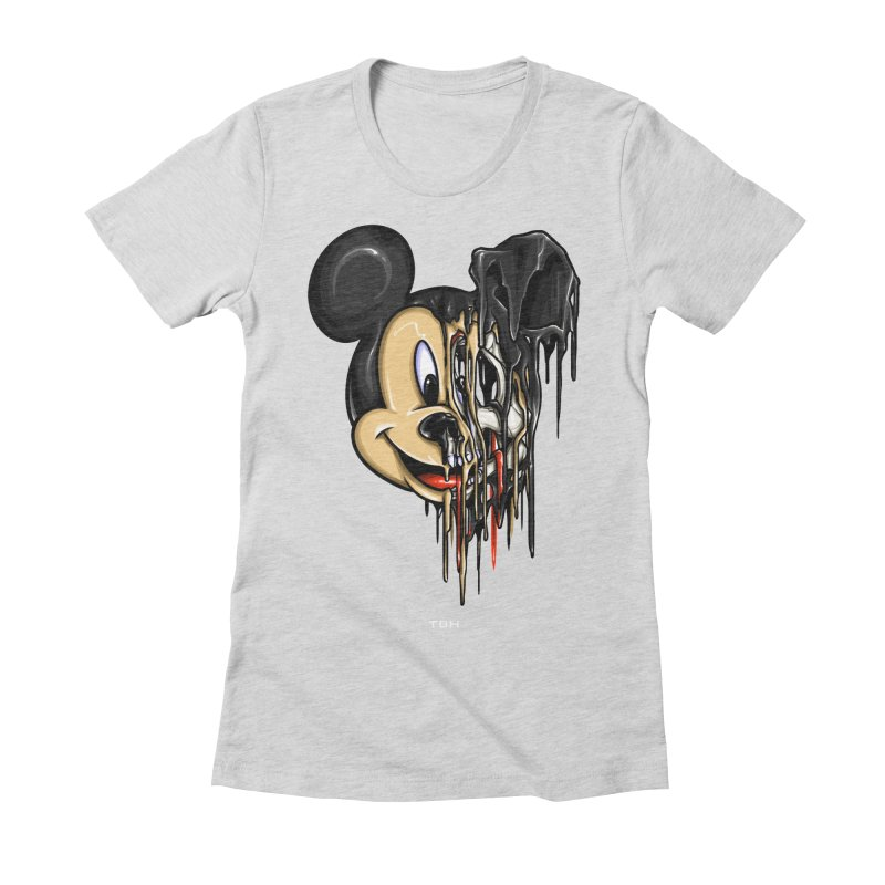 MELTY MOUSE Women's Fitted T-Shirt by TBH805