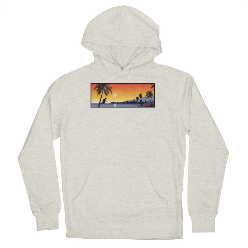 GODZIlla Men's French Terry Pullover Hoody by TBH805