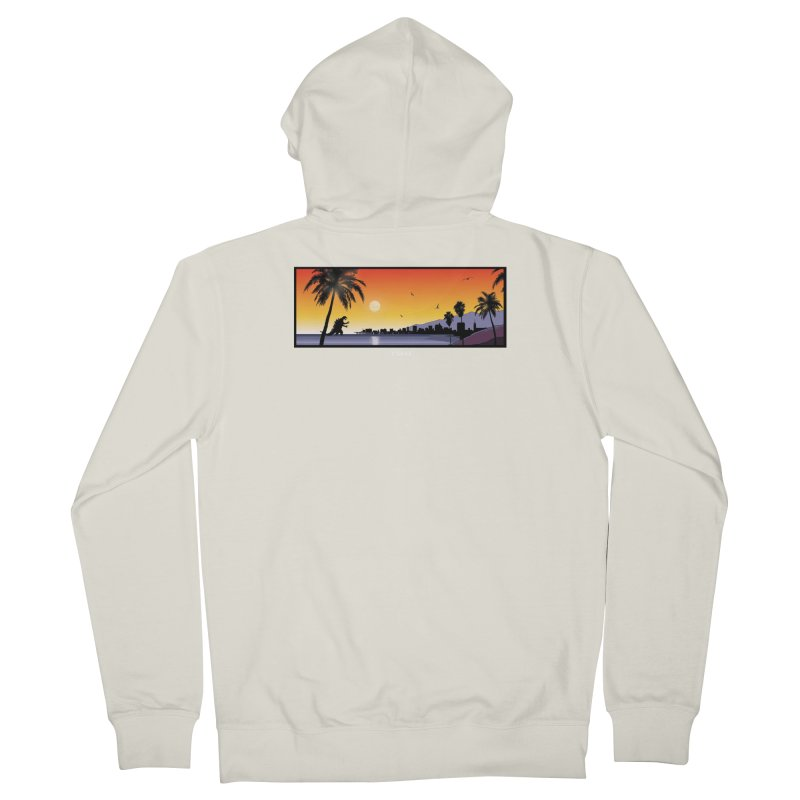 GODZIlla Women's French Terry Zip-Up Hoody by TBH805