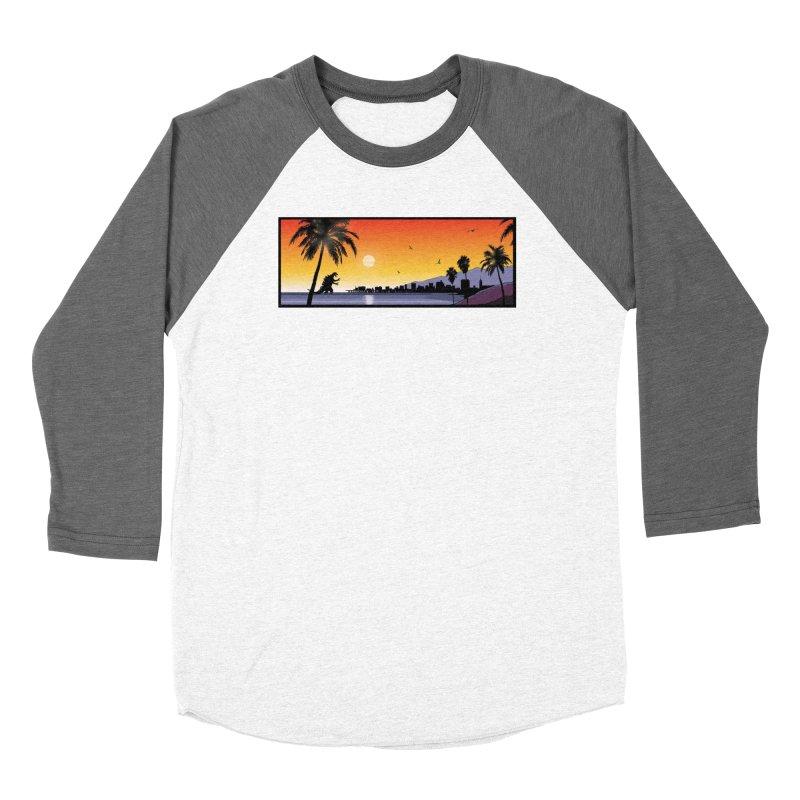 GODZIlla Women's Baseball Triblend Longsleeve T-Shirt by TBH805