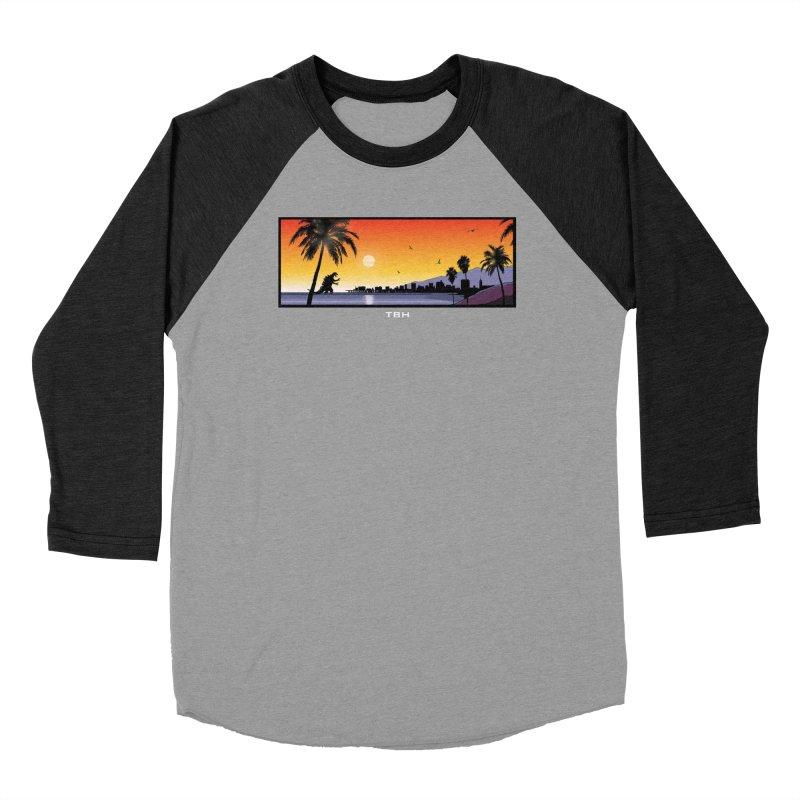 GODZIlla Men's Baseball Triblend Longsleeve T-Shirt by TBH805