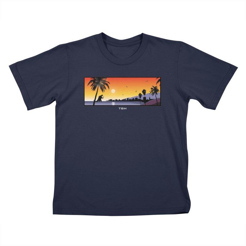 GODZIlla Kids T-shirt by TBH805