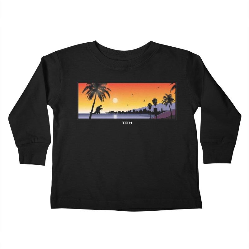 GODZIlla Kids Toddler Longsleeve T-Shirt by TBH805