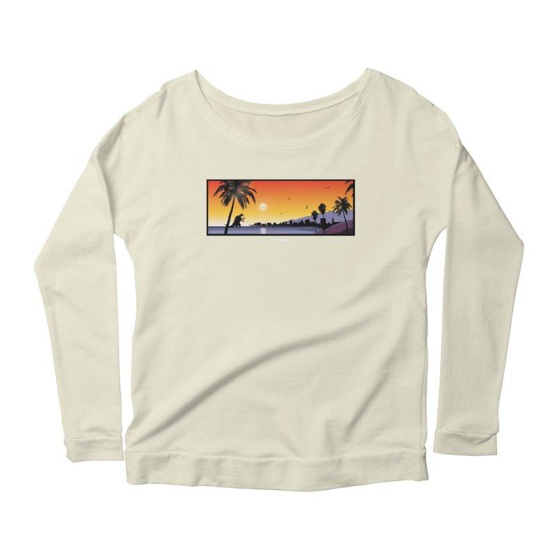 GODZIlla Women's Scoop Neck Longsleeve T-Shirt by TBH805