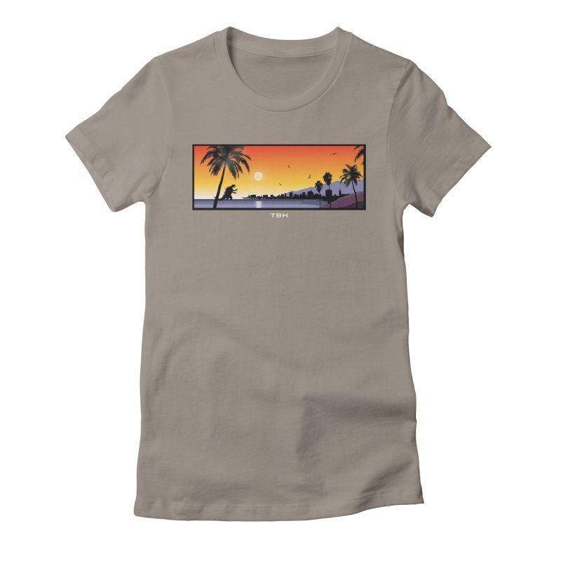 GODZIlla Women's Fitted T-Shirt by TBH805