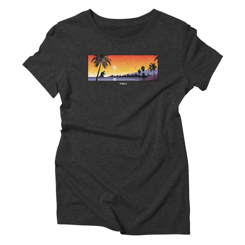 GODZIlla Women's Triblend T-Shirt by TBH805