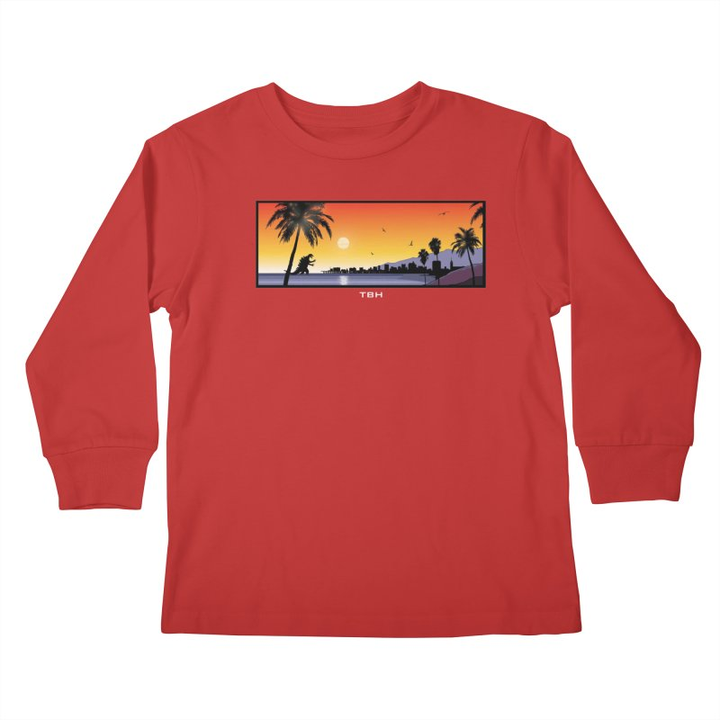 GODZIlla Kids Longsleeve T-Shirt by TBH805