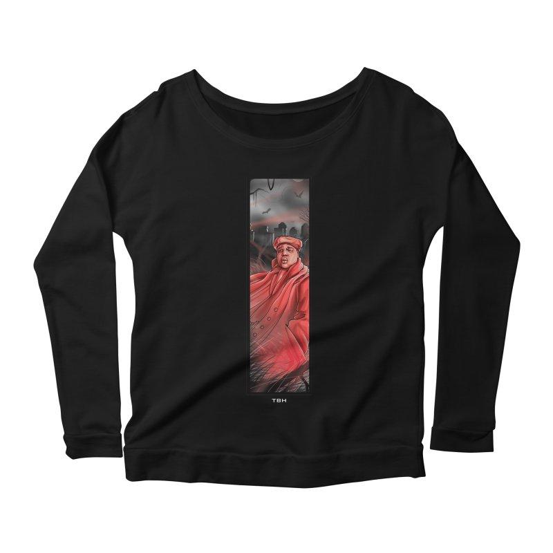 BIGGIES GHOST Women's Scoop Neck Longsleeve T-Shirt by TBH805