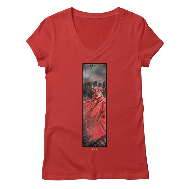 BIGGIES GHOST Women's V-Neck by TBH805