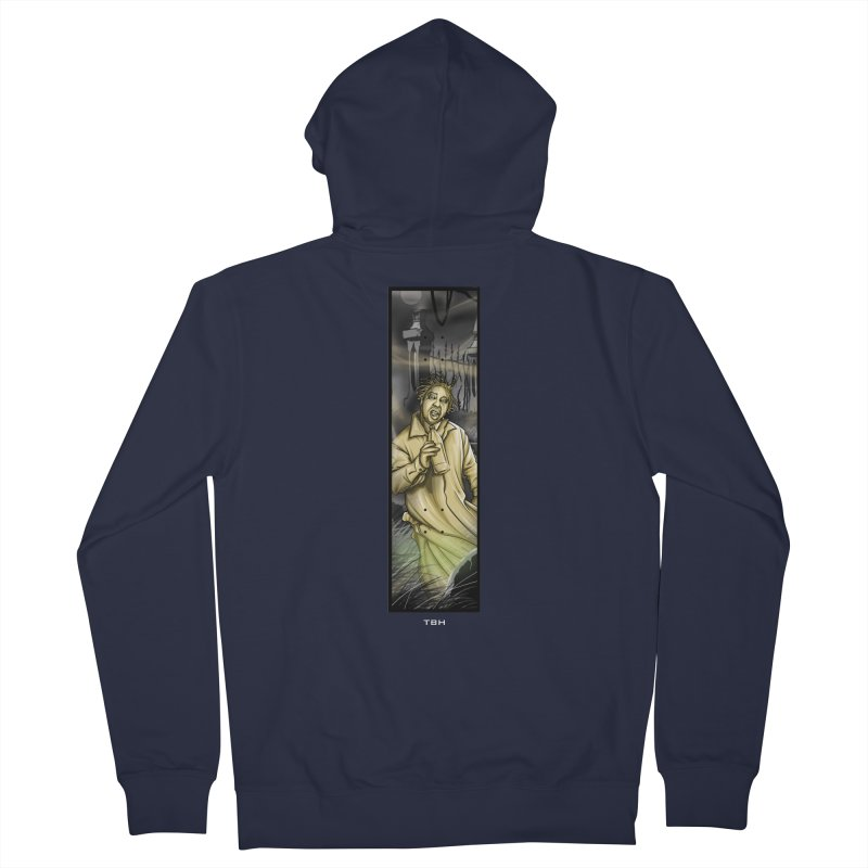 OL DIRTYS GHOST Men's French Terry Zip-Up Hoody by TBH805