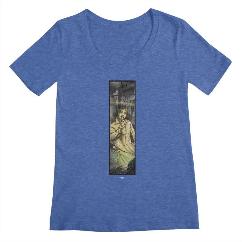 OL DIRTYS GHOST Women's Regular Scoop Neck by TBH805