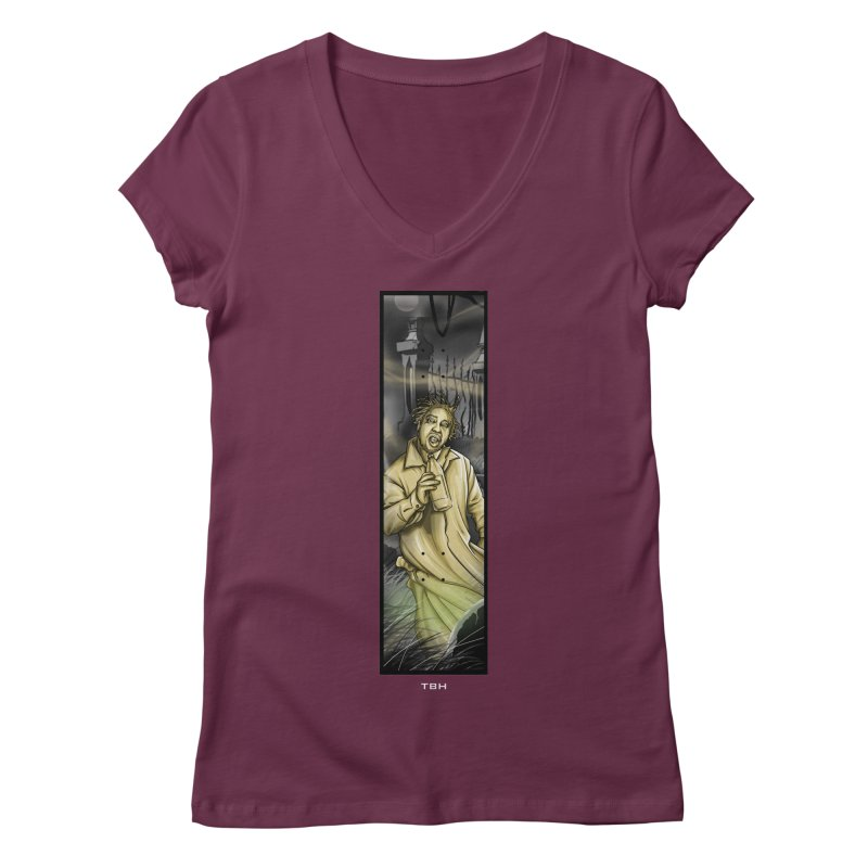OL DIRTYS GHOST Women's Regular V-Neck by TBH805