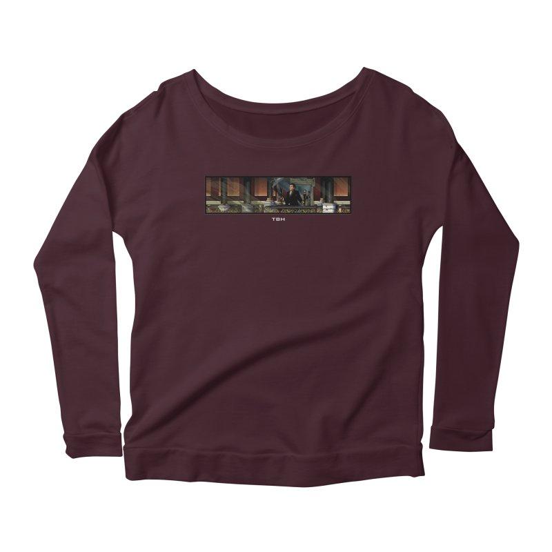 ENDER Women's Scoop Neck Longsleeve T-Shirt by TBH805