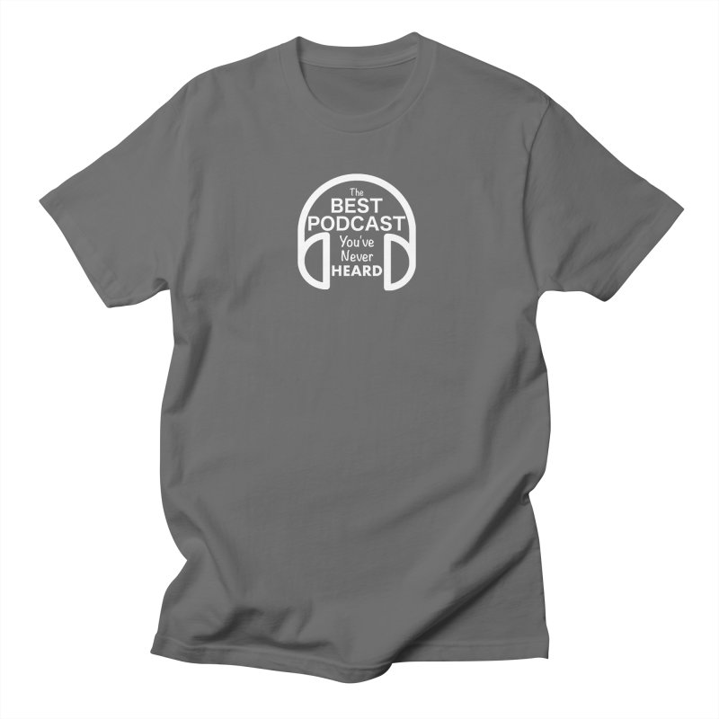 TBPYNH Logo (White) Men's T-Shirt by The Best Podcast You've Never Heard
