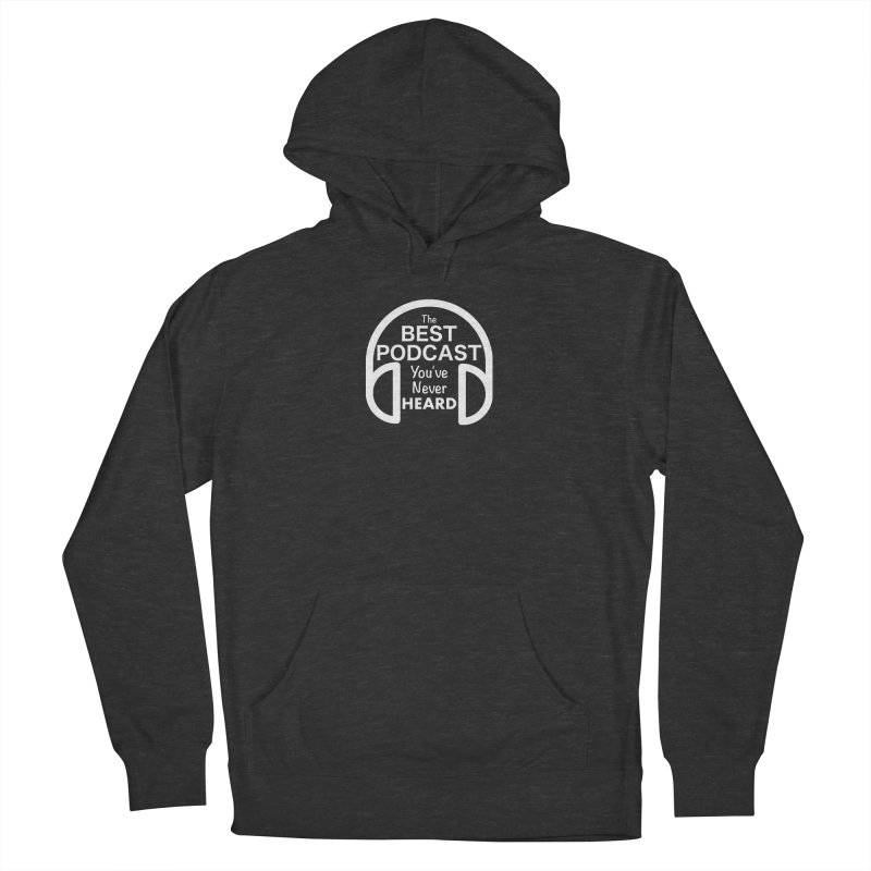 TBPYNH Logo (White) Men's French Terry Pullover Hoody by The Best Podcast You've Never Heard