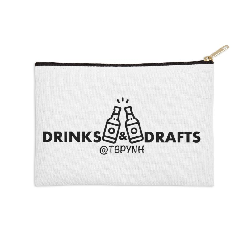 Drinks & Drafts (Black) Accessories Zip Pouch by The Best Podcast You've Never Heard