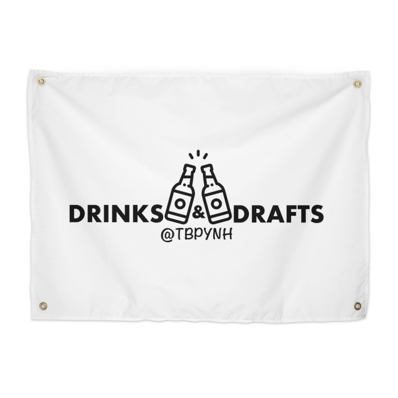Drinks & Drafts (Black) Home Tapestry by The Best Podcast You've Never Heard