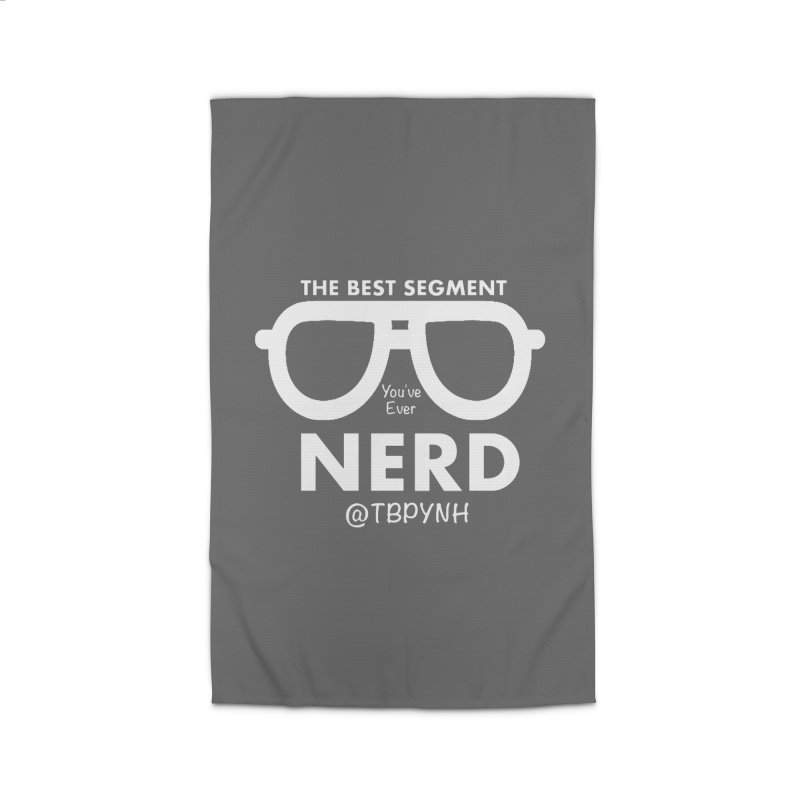 Best Segment You've Ever Nerd (White) Home Rug by The Best Podcast You've Never Heard