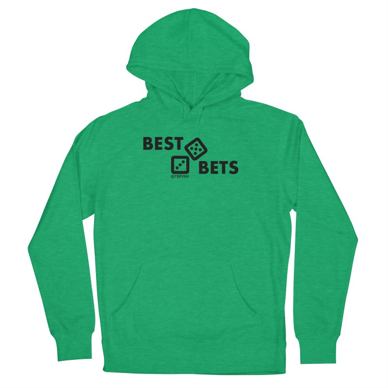 Best Bets (Black) Men's French Terry Pullover Hoody by The Best Podcast You've Never Heard
