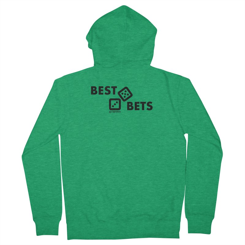 Best Bets (Black) Women's Zip-Up Hoody by The Best Podcast You've Never Heard