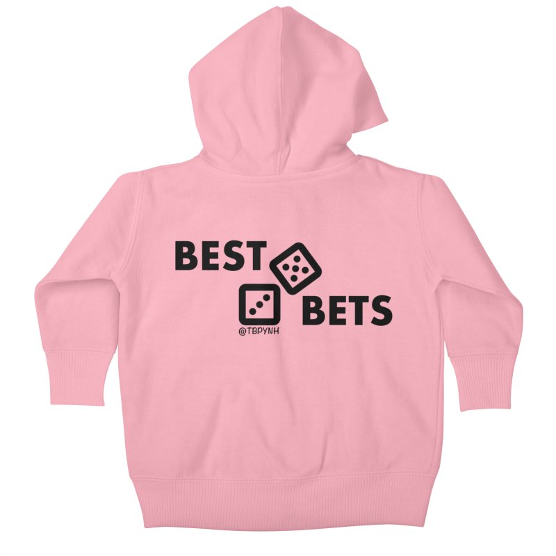 Best Bets (Black) Kids Baby Zip-Up Hoody by The Best Podcast You've Never Heard