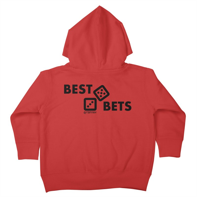 Best Bets (Black) Kids Toddler Zip-Up Hoody by The Best Podcast You've Never Heard