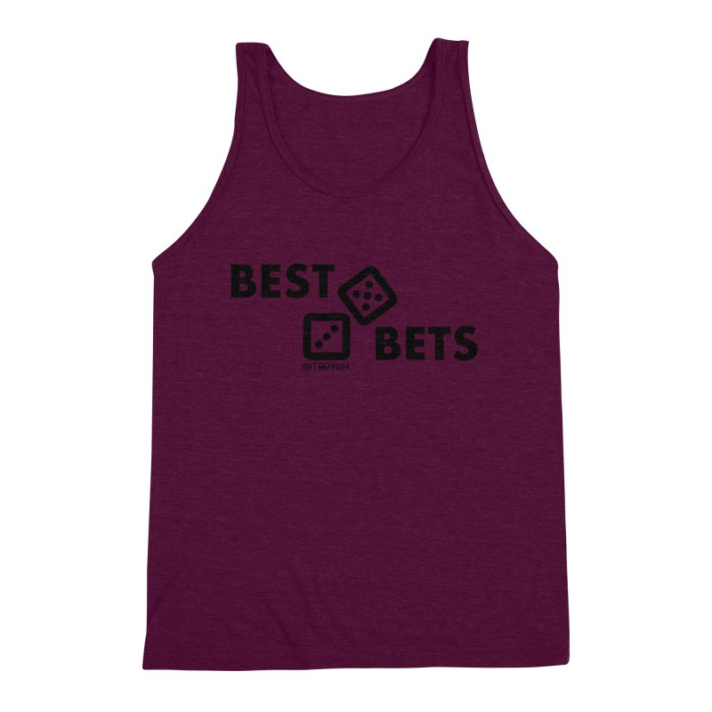 Best Bets (Black) Men's Triblend Tank by The Best Podcast You've Never Heard