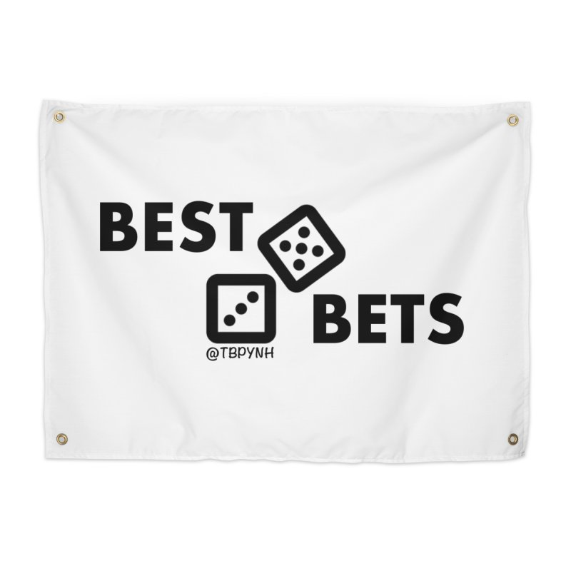 Best Bets (Black) Home Tapestry by The Best Podcast You've Never Heard