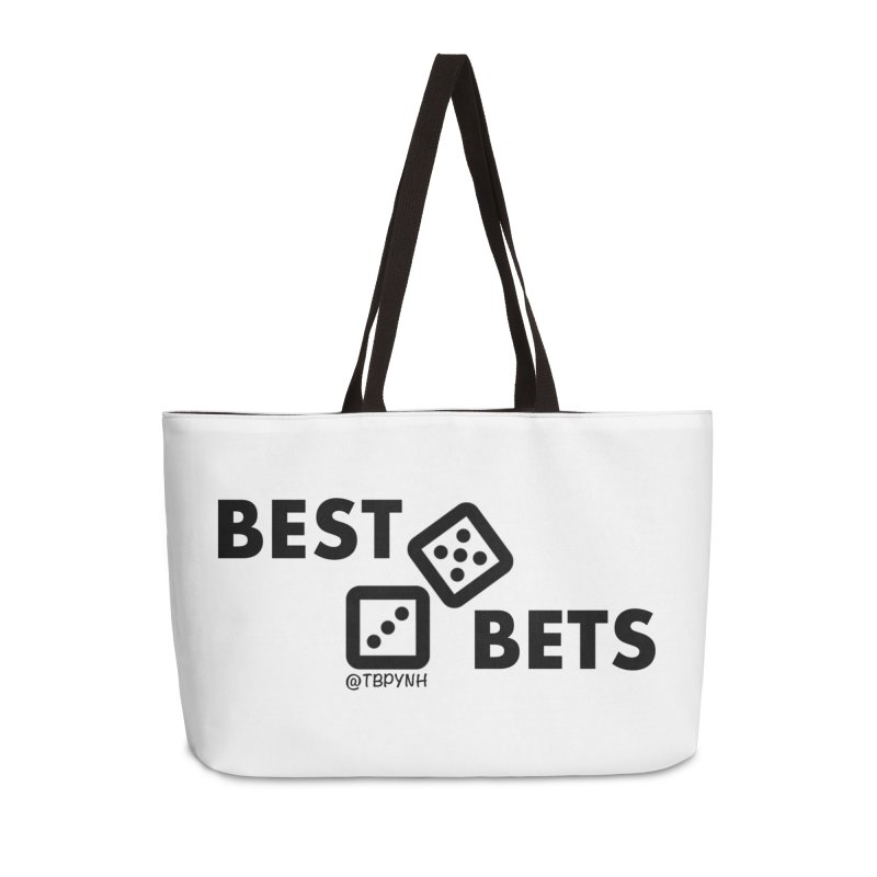 Best Bets (Black) Accessories Weekender Bag Bag by The Best Podcast You've Never Heard