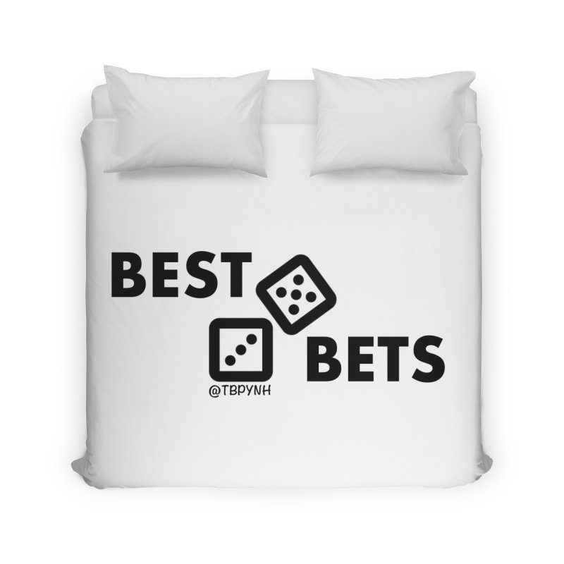 Best Bets (Black) Home Duvet by The Best Podcast You've Never Heard