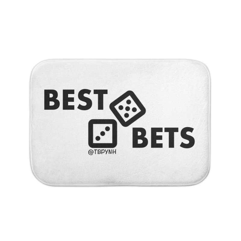 Best Bets (Black) Home Bath Mat by The Best Podcast You've Never Heard