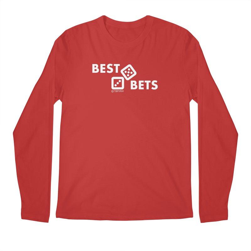 Best Bets (White) Men's Regular Longsleeve T-Shirt by The Best Podcast You've Never Heard