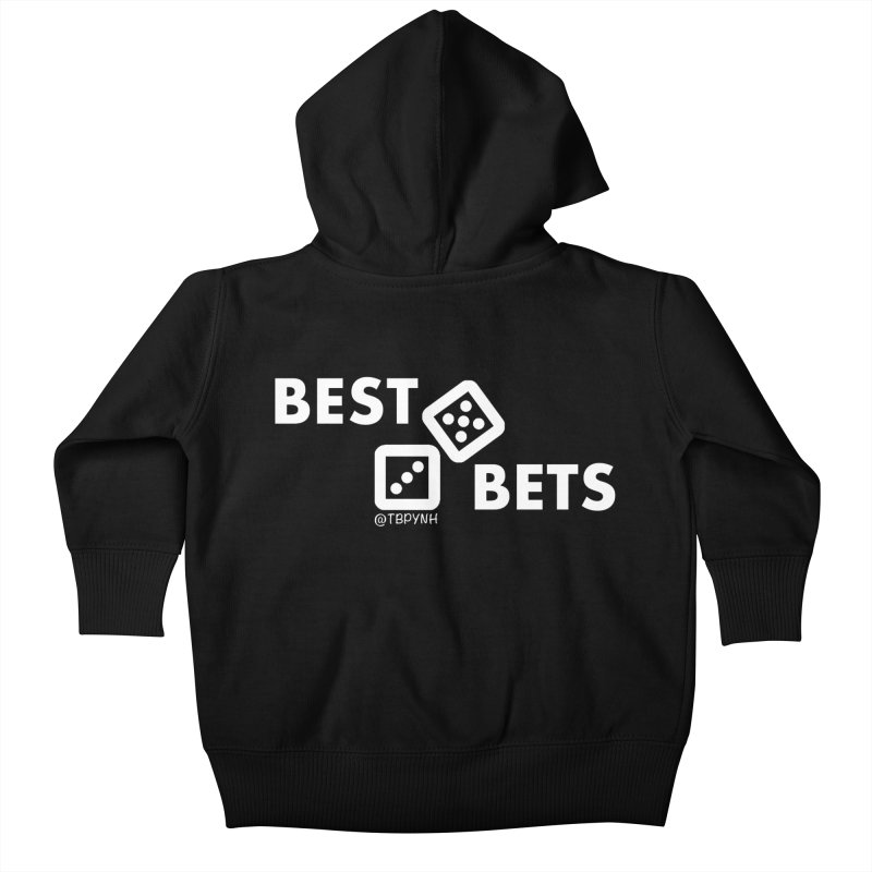 Best Bets (White) Kids Baby Zip-Up Hoody by The Best Podcast You've Never Heard