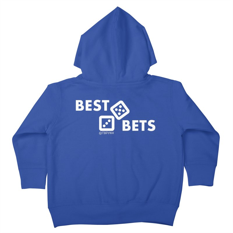Best Bets (White) Kids Toddler Zip-Up Hoody by The Best Podcast You've Never Heard