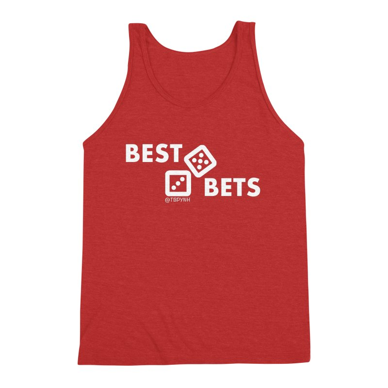 Best Bets (White) Men's Triblend Tank by The Best Podcast You've Never Heard