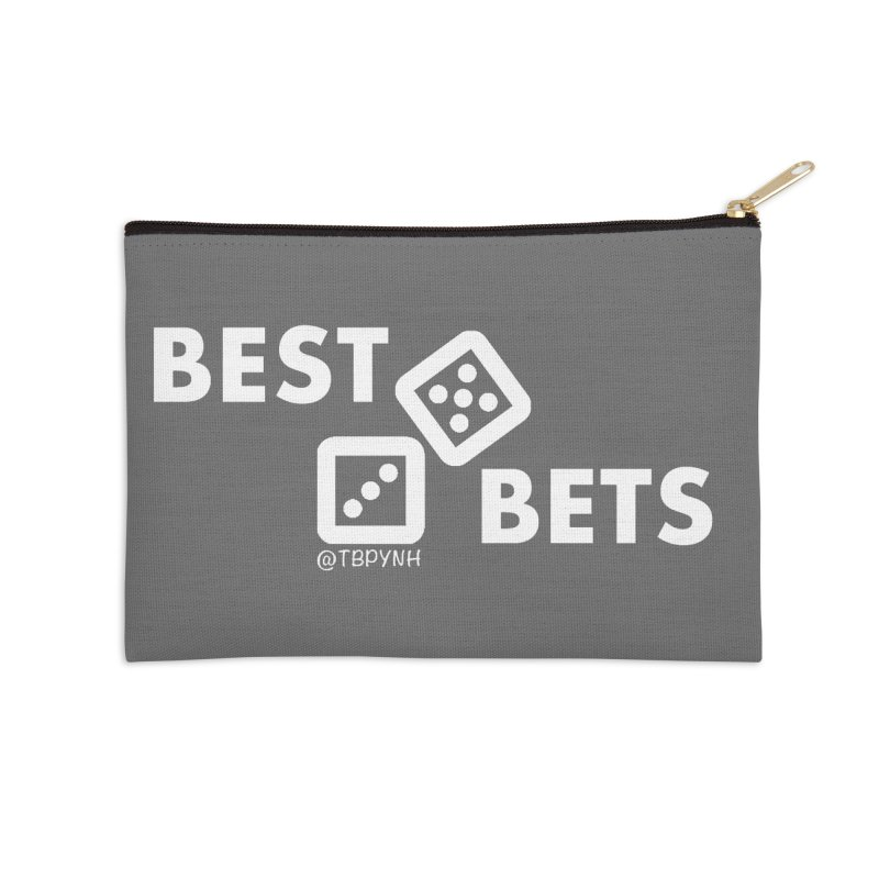 Best Bets (White) Accessories Zip Pouch by The Best Podcast You've Never Heard