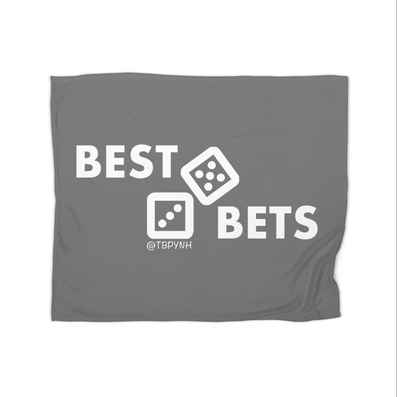 Best Bets (White) Home Fleece Blanket Blanket by The Best Podcast You've Never Heard