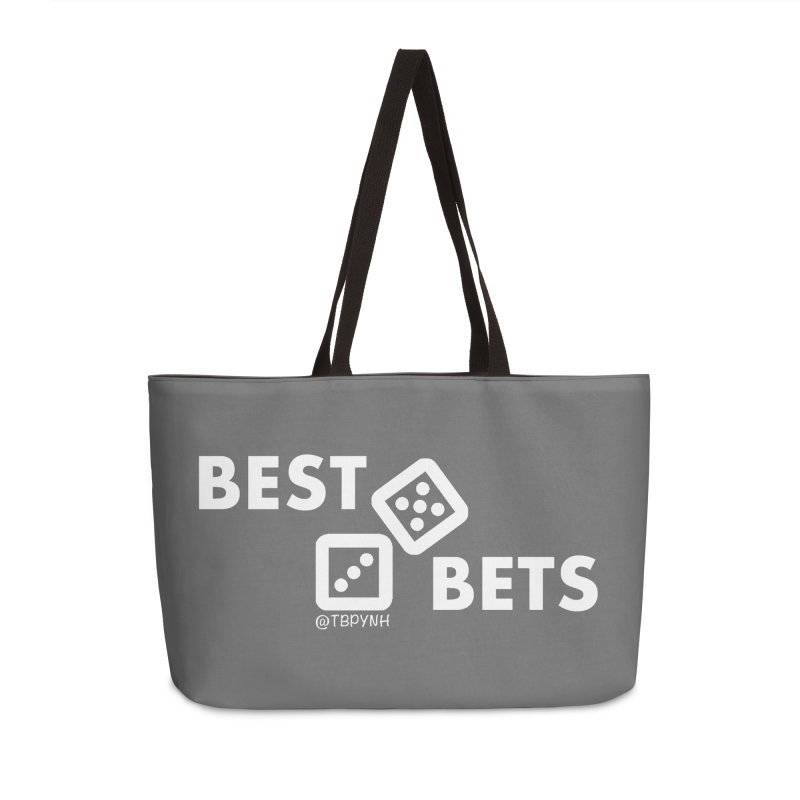 Best Bets (White) Accessories Weekender Bag Bag by The Best Podcast You've Never Heard