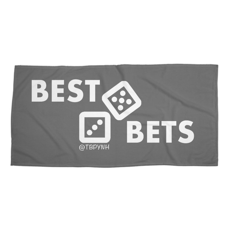 Best Bets (White) Accessories Beach Towel by The Best Podcast You've Never Heard